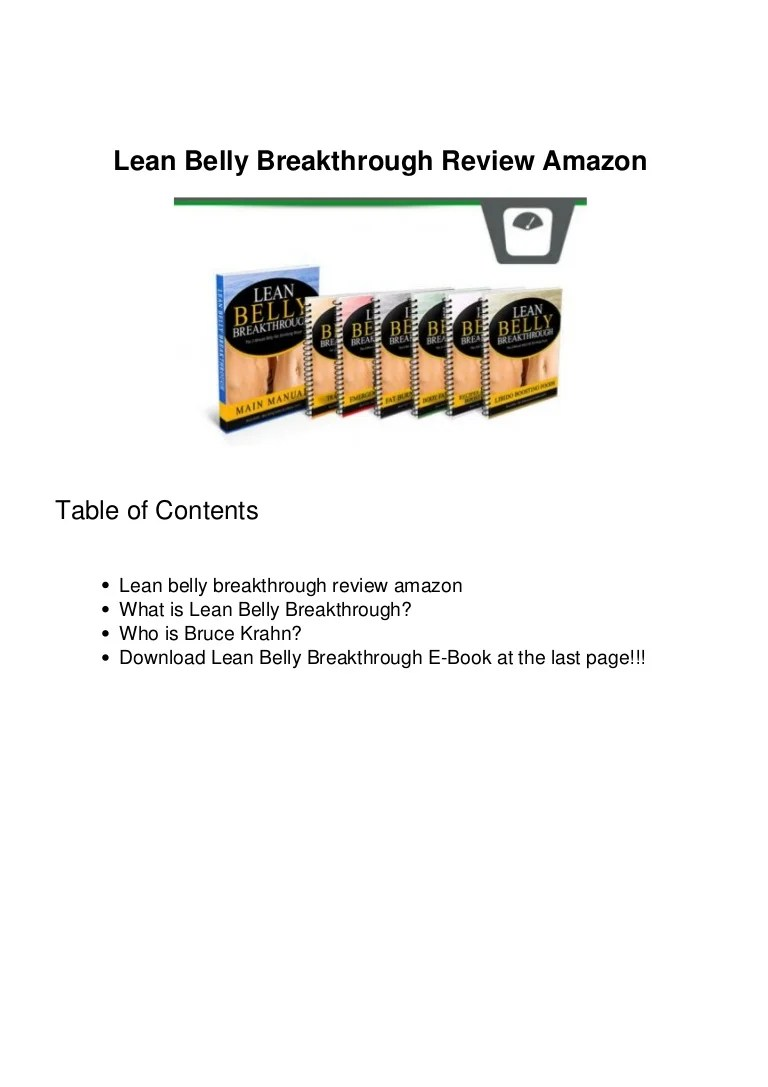 Large Of Lean Belly Breakthrough Reviews
