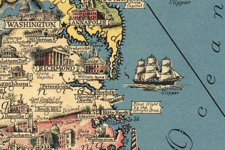 vintage map of united states wonderland america pictorial