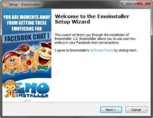 Emoinstaller welcome screen