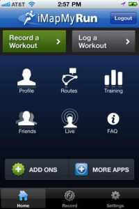 iMapMyRun iphone
