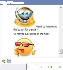 smileys in facebook chat