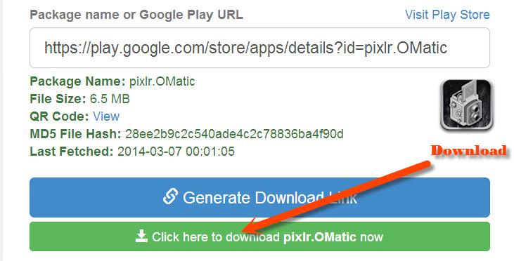 Download apk package