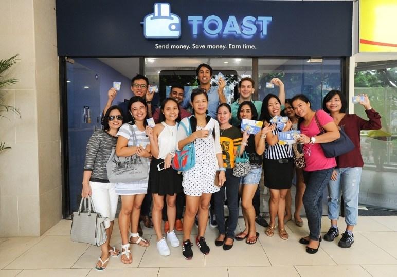 Toast team and customers