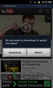 Select Download option