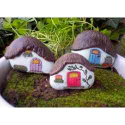 Ideal Painted Rock Fairy Houses Pinterest Pins Ideas Fairy Garden Railroad Archerfield Walled Garden Fairy Training garden Fairy Garden Train