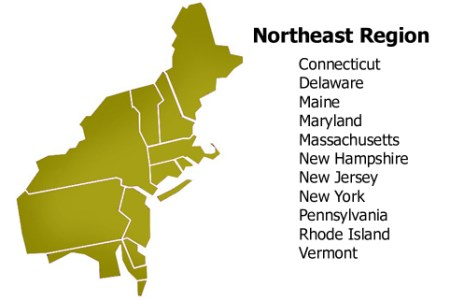 the northeast region of the united states thinglink