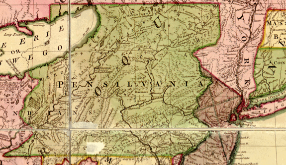 map of pennsylvania in the 1700s     bnhspine com Oscar Pennsylvania Colony ThingLink
