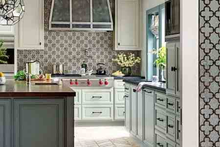 gray green kitchen