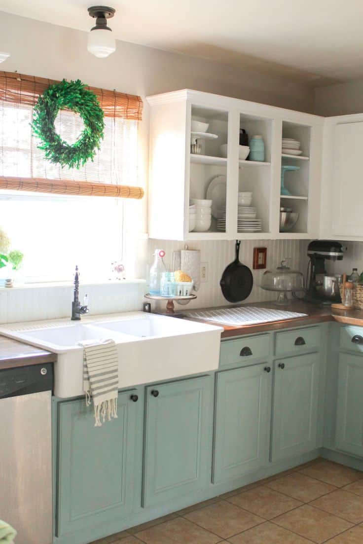Corner View Two Tone Kitchen Cabinets Blue Gallery Two Tone Kitchen Cabinets Kitchen Cabinets To Reinspire Your Spot Two Tone Kitchen Cabinets Grey houzz-02 Two Tone Kitchen Cabinets