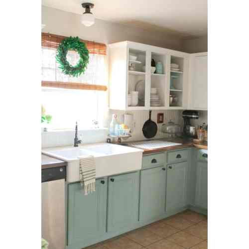Medium Crop Of Two Tone Kitchen Cabinets