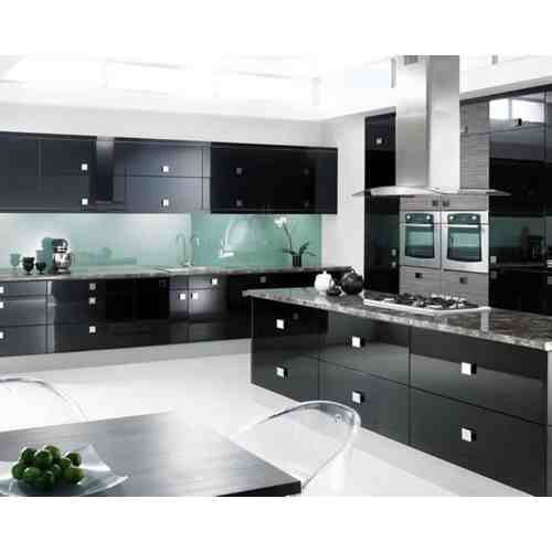 Medium Crop Of Black Cabinet Kitchens