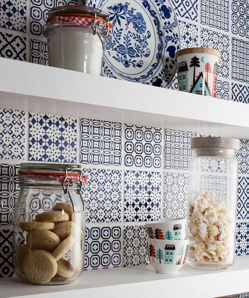 patchwork tile backsplash ideas kitchen tile for kitchen backsplash View in gallery batik patchwork tile kitchen backsplash blue
