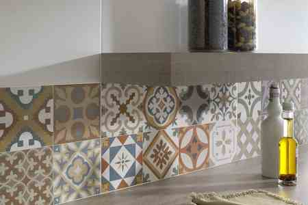 aziz wall tiles moroccan patchwork backsplash