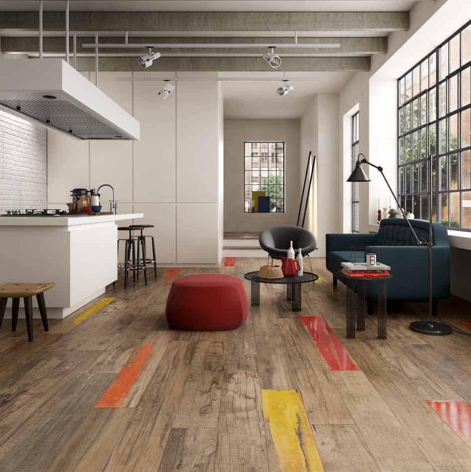 wood look tiles wood floor kitchen View in gallery weathered wood look porcelain tile kitchen floor abk