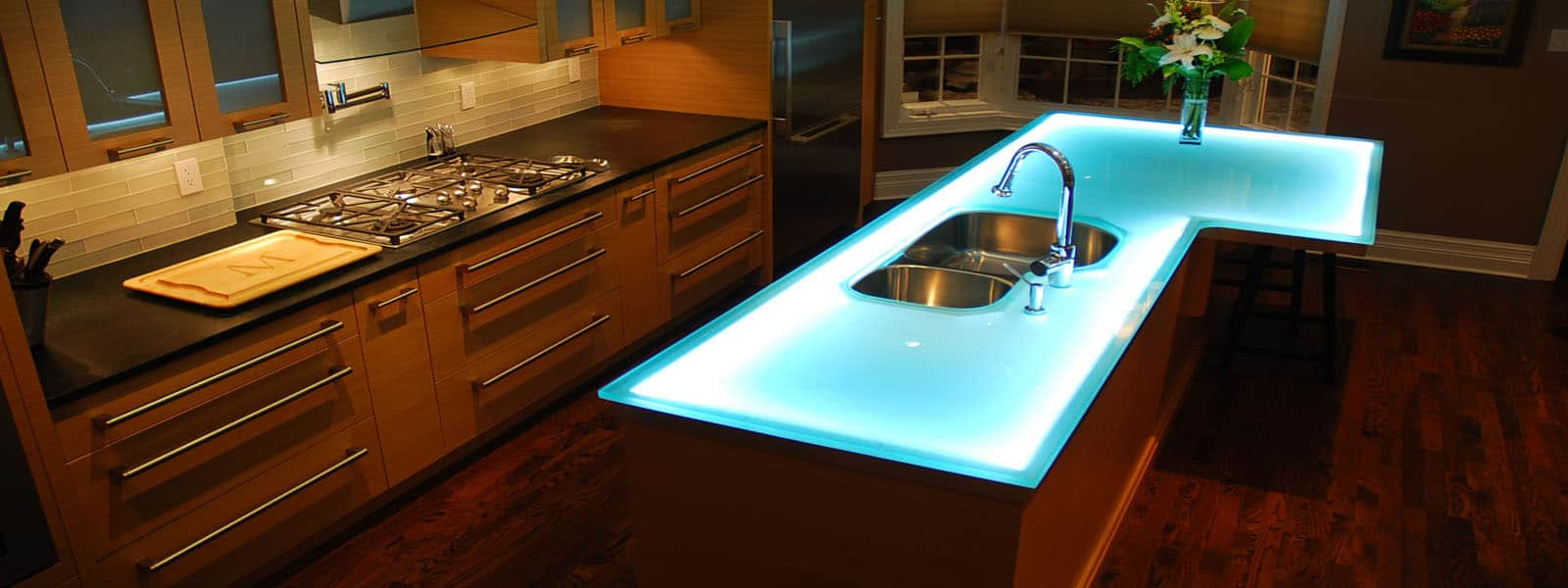 modern kitchen countertops from unusual materials modern kitchen countertops View in gallery modern countertops unusual material kitchen glass Modern Kitchen Countertops from Unusual Materials 30 Ideas
