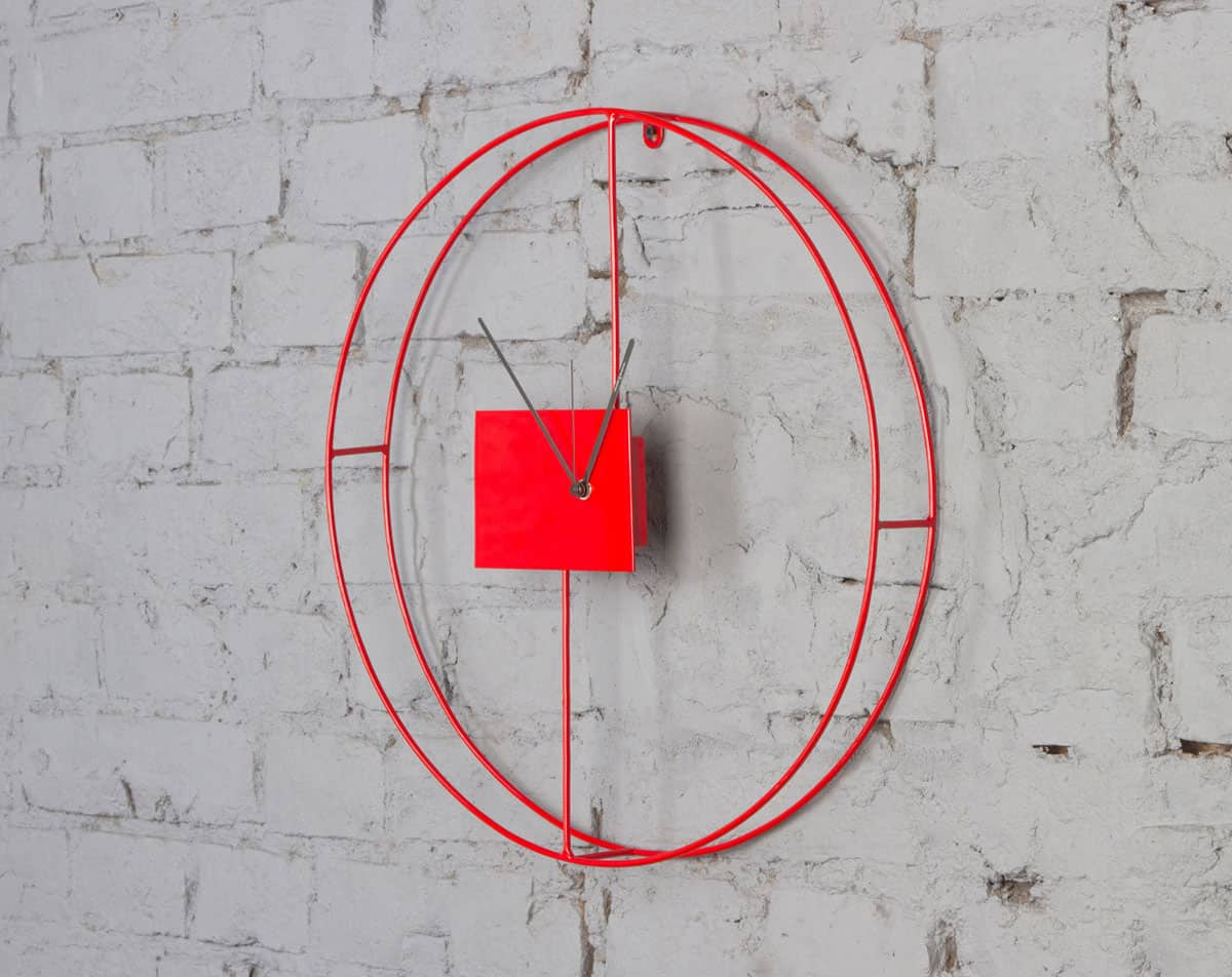 Encouragement Domeniconi Wall Clock Silent Wall Clock Gallery Wall Clocks By Diamantini Numbers View houzz 01 Modern Wall Clock