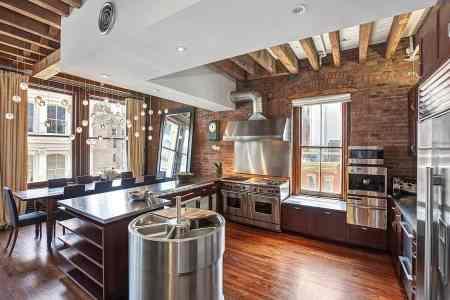 upscale industrial kitchen ny loft sotheby