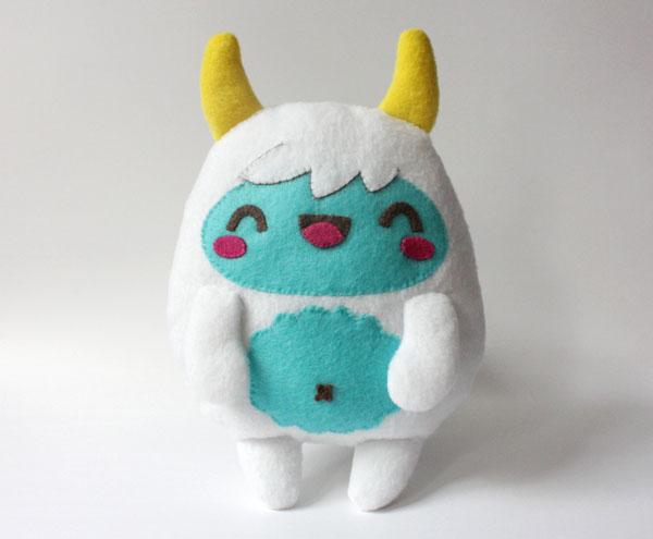 Stuffed Yeti from Amanda Tepie on Tuts+