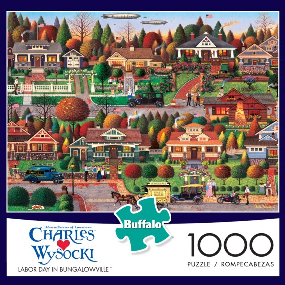 Labor Day in Bungalowville Americana Jigsaw Puzzle