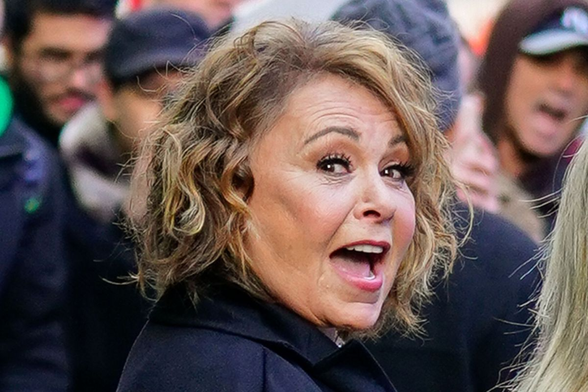 Roseanne s Twitter  full of racism and conspiracy theories for a     Rosanne Barr at GMA on March 26  2018  in New York City  Gotham GC Images