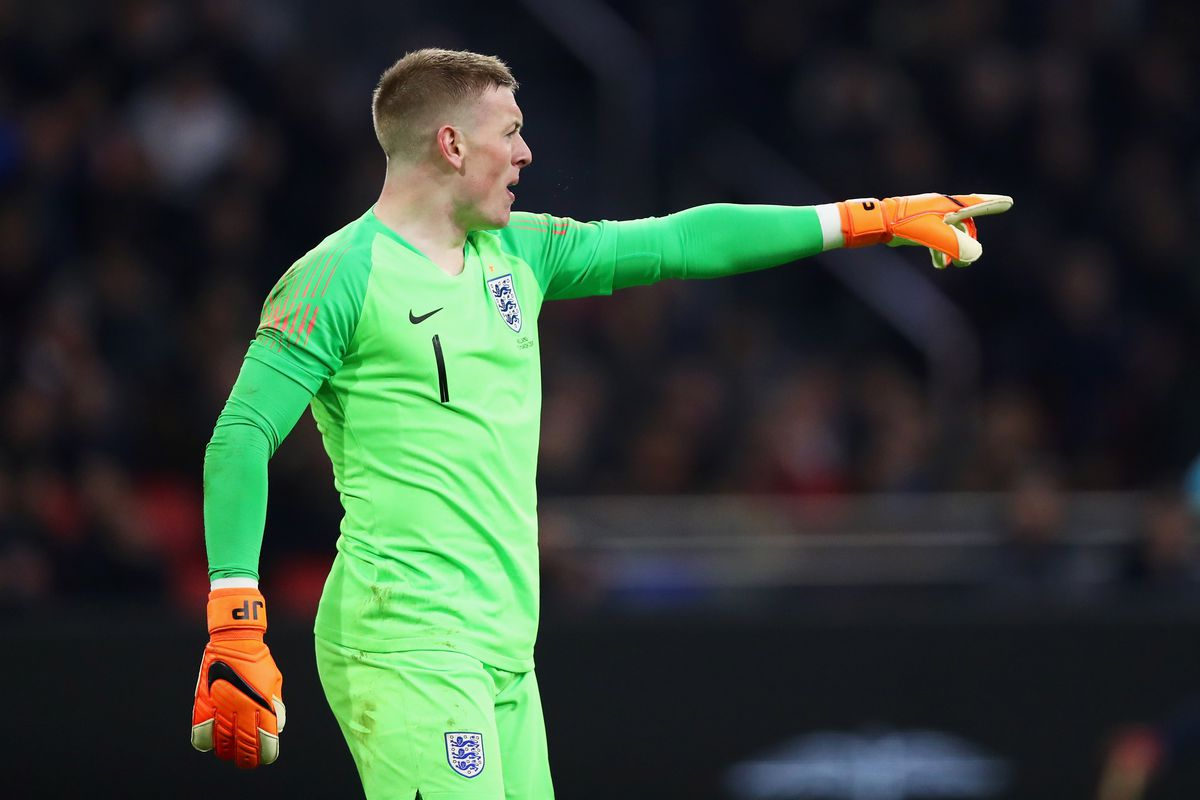 Jordan Pickford named in England s World Cup squad   Royal Blue Mersey Photo by Dean Mouhtaropoulos Getty Images