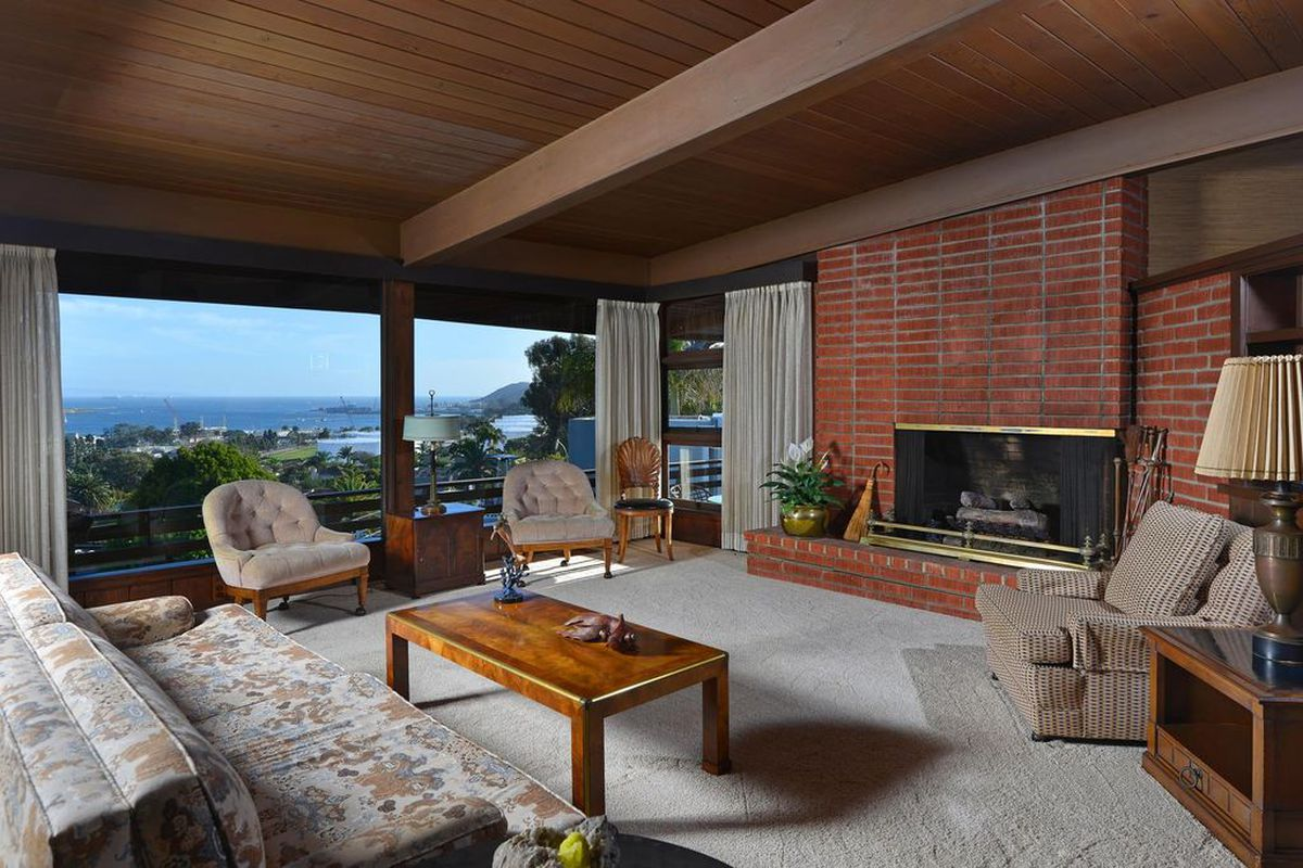 Engaging Mystery Home Living Rooms Designing Long Living Rooms San California Midcentury Living Rooms To Inspire Your Decorating Scheme Curbed Decorating Long Walls living room Decorating Long Living Rooms