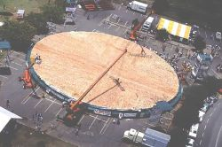 Astounding Guinness World Records Largest Pizza Ever Weighed Lbs Eater Worlds Biggest Pizza Slice Las Vegas Worlds Biggest Pizza Chain