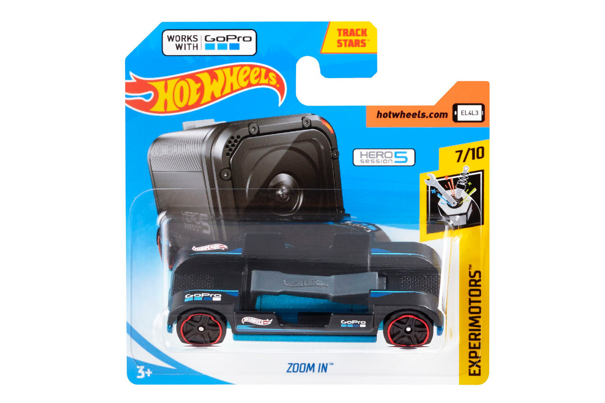 Hot Wheels  new  1 toy car has a GoPro mount   The Verge Hot Wheels has a new die cast toy car out with an oddly advanced feature   support for a GoPro camera  through a cleverly built in mount on the top of  the