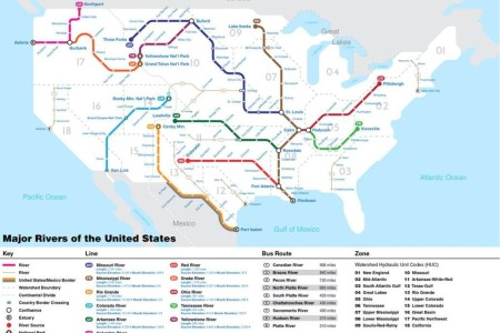 Map Of The Rivers In The United States - Map of major rivers in the us