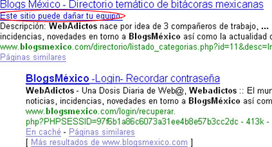 blogsmexico google 2 ¿BlogsMexico Puede Dañar Mi Equipo?... o Simplemente a Google no le cae bien BlogsMexico