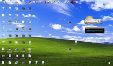 escritorio lleno Esconder Los Iconos Del Escritorio En Windows