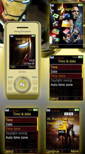 temas sony ericsson ironman Temas Sony Ericsson – Iron Man