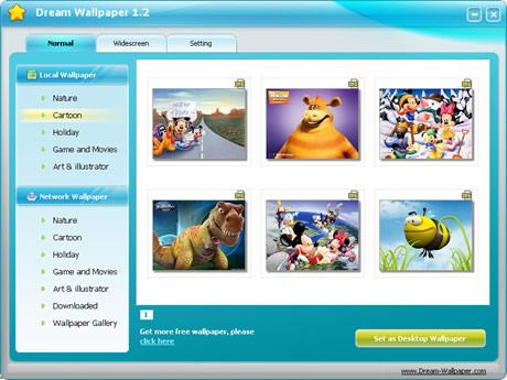 fondos de pantalla Fondos de pantalla para Windows con Dream Wallpaper