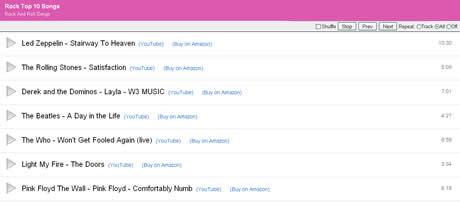 musica de videos youtube MixTube, crea listas de musica con videos de youtube