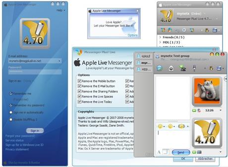 apple live messenger1 Skins messenger, 5 skins que te gustaran