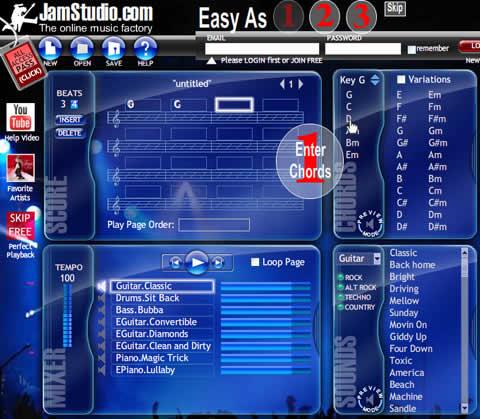 hacer musica online Hacer musica online con JamStudio