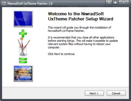 uxtheme dll Parchear windows para instalar temas