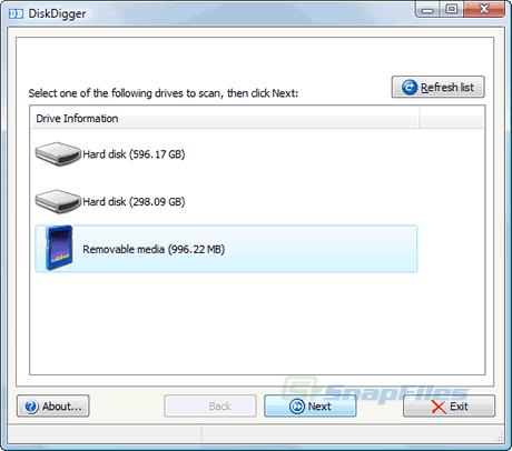 recuperar archivos Recuperar archivos con DiskDigger