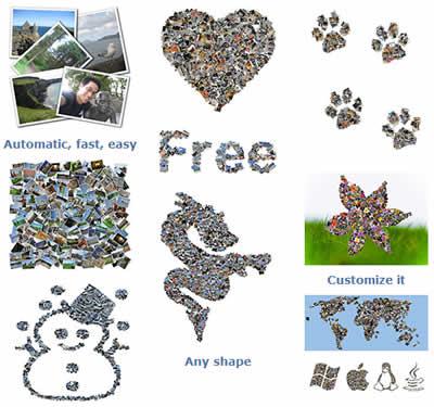 collage de fotos Collage de fotos con Shape Collage