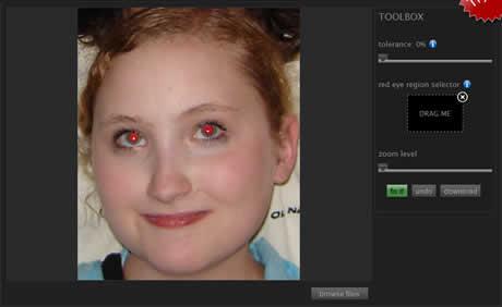quitar ojos rojos Quitar ojos rojos de fotos en linea