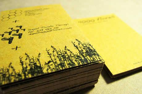 diseno de tarjetas flores Diseños de tarjetas de presentacion en Card Observer