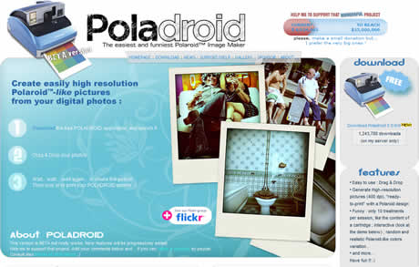 efectos de fotos Efectos de fotos tipo Polaroid con Polaroid Project