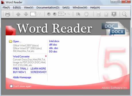 archivos word Abrir archivos de word sin office con Word Reader