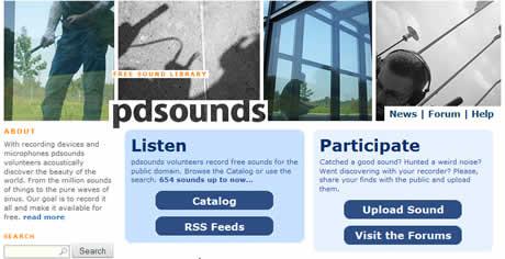 efectos de sonido Efectos de sonido, descargalos en PDsounds.org