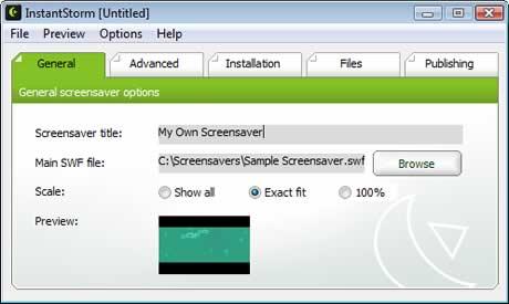 screensavers instantstorm Protectores de pantalla, crealos con instantstorm