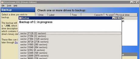 respaldar discos duros Respaldar discos duros y particiones con DriveImage XML