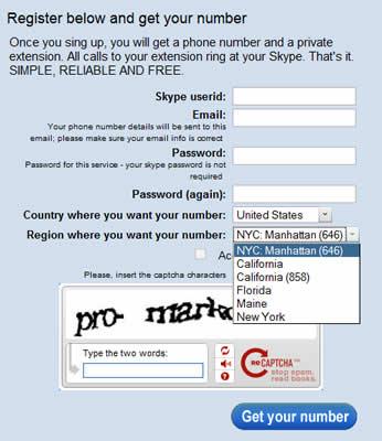 telefono estados unidos Obtener un numero de telefono en Mexico, Estados unidos, España y otros paises gratis con Ring2Skype