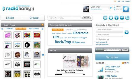 Radio online, crea tu radio en Radionomy