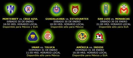 futbol mexicano por internet Futbol mexicano, jornada 3 bicentenario 2010