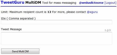 mensajes directos twitter Enviar mensajes directos a multiples usuarios de twitter